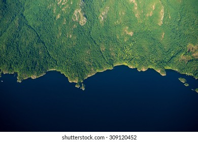 Aerial image of Coastal British Columbia in  Canada
