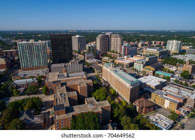 Aerial image of Evanston Chicago