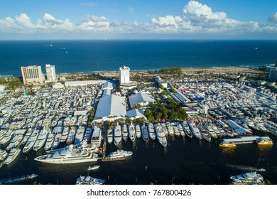 Aerial image of the Fort Lauderdale International Boat Show