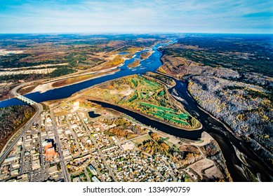 Aerial image of Fort McMurray, Alberta, Canada