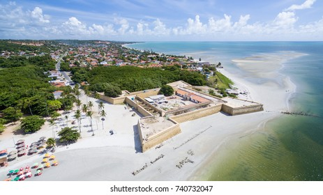 Aerial image of Fort Orange in Itamaraca Island, , Pernambuco, Brazil
