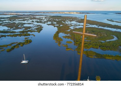 Aerial image of the Great Cross St Augustine FL USA