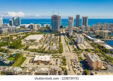 Aerial image Hallandale Beach FL