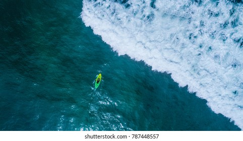 Aerial image from Kayak at the Ocean