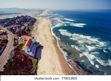 Aerial image of Lincoln City area Oregon, USA