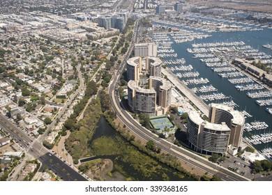 Aerial image of Los Angeles, USA