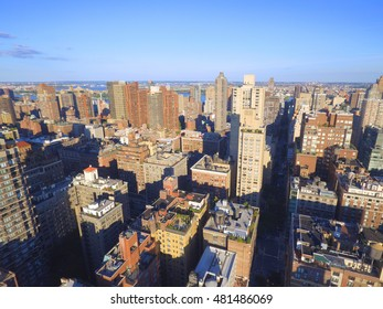 Aerial image of NY Manhattan architecture
