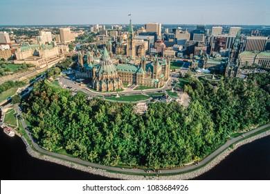 Aerial image of Ottawa and area, Ontario, Canada