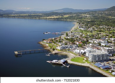 Aerial image of Sidney, BC, Canada