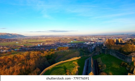 Aerial image of Stirling Castle with a view of the Great Hall.