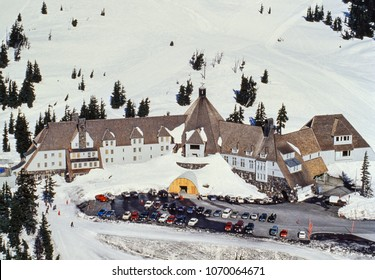 Aerial image of Timberline Lodge, Oregon, US