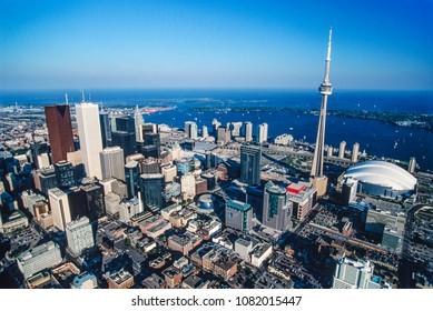Aerial image of Toronto, Ontario, Canada