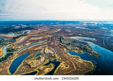 Aerial image of Wood Buffalo National Park, Alberta, Canada