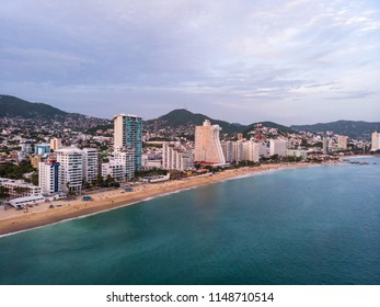 Aerial images of the beach at Acapulco, Mexico