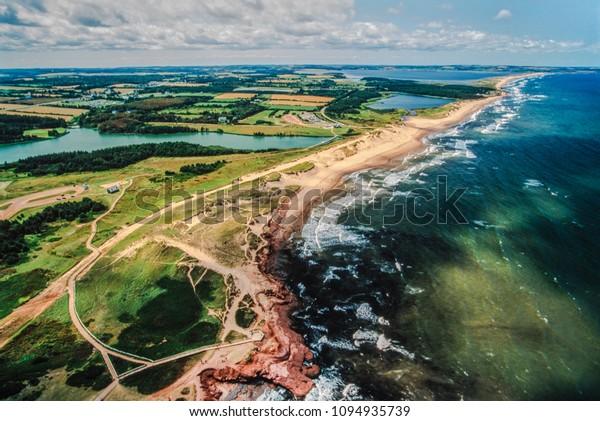 Aerial images of  Prince Edward Island, PEI, Canada