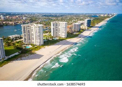Aerial of Lake Boca Raton Florida