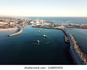 Aerial of Lamberts Bay South Africa