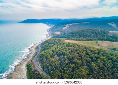 Aerial landscape of Great Ocean Road