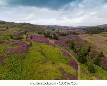 Aerial landscape of Scottish highlands