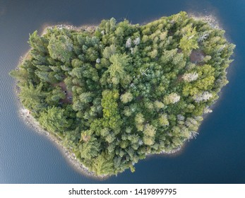 Aerial Landscape View Canada Lake Superior a historical fur trading route of voyageurs and stunning geology of the Canadian Shield