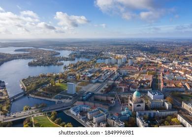 Luftbild über Potsdam, Deutschland.