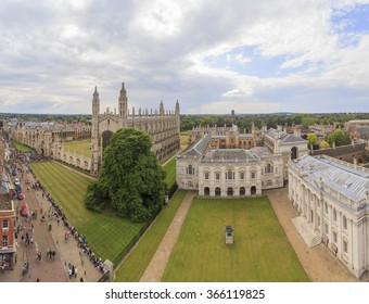 Aerial landscapes of the famous Cambridge University, King's College, United Kingdom