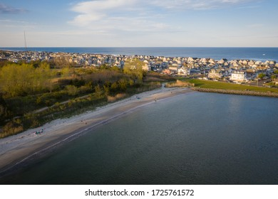 Aerial of Manasquan Inlet Beach