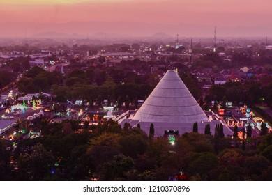 aerial Monumen Jogja Kembali