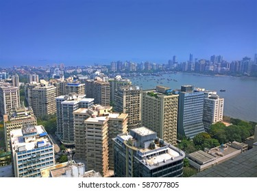 Aerial Mumbai financial capital of India