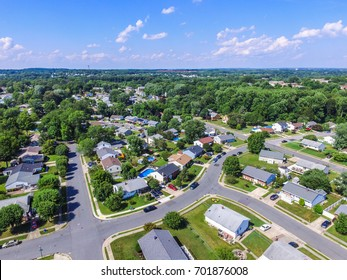 Aerial of a Neighborhood in Parkville in Baltimore County, Maryland
