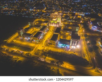 Aerial Night View of 101 Commercial Centre Miri, Sarawak.