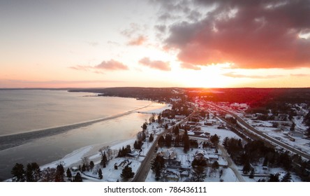 Aerial Northern Ontario Town