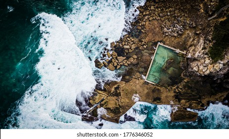 Aerial Ocean Rock Pool North Curl Curl Northern Beaches Sydney
