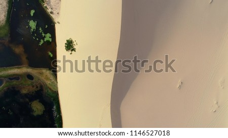 Aerial Overhead Drone Shot White Sand Stock Photo Edit Now
