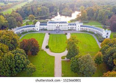 Aerial from palace Soestdijk in the Netherlands