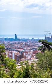 Aerial panorama Barcelona