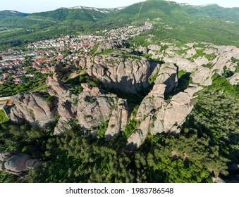 Aerial Panorama of Belogradchik Rocks, Vidin Region, Bulgaria - Shutterstock ID 1983786548