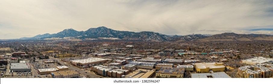 Aerial panorama of Boulder Colorado USA image