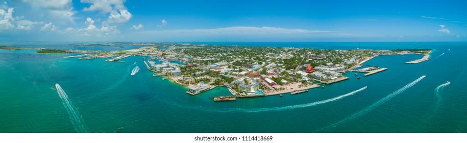 Aerial panorama of Key West Florida USA