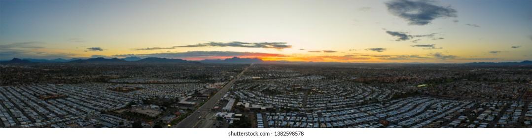 Aerial panorama Mesa Arizona USA