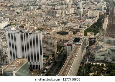 aerial panorama of paris