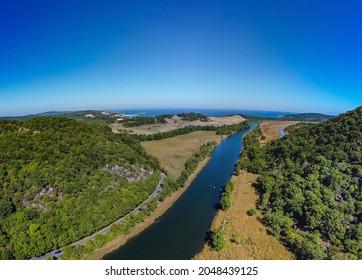 Aerial Panorama of River Ropotamo in Primorsko