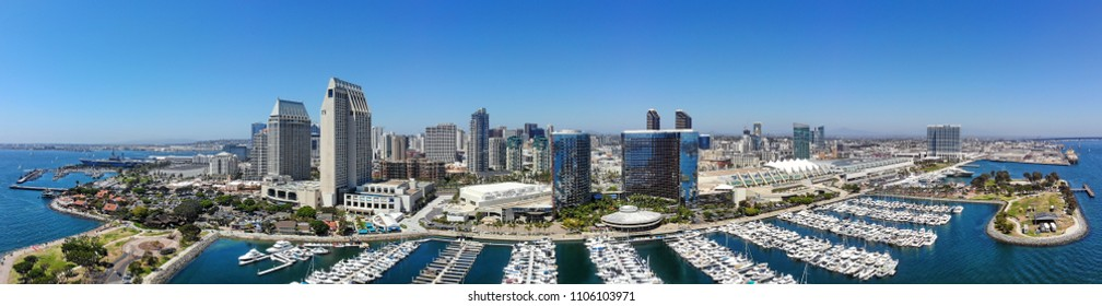 Aerial Panorama of the San Diego Waterfront
