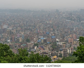 Aerial panorama of typical asian big city
