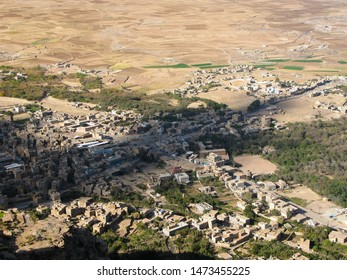 Aerial panoramic View to Shibam fortress and old city , Yemen