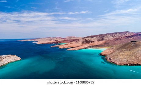 Aerial panoramics from Espiritu Santo Island, Baja California Sur, Mexico.