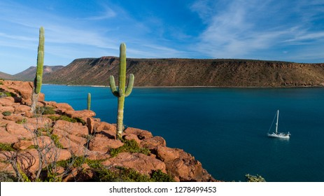 Aerial panoramics from Espiritu Santo Island, Baja California Sur, Mexico.