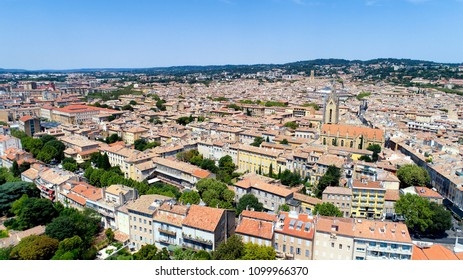 Aerial photo of Aix en Provence city center, in the Bouches du Rhone