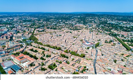 Aerial photo of Aix en Provence city in Bouches du Rhone, France