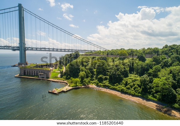 Aerial photo of Battery Weed Staten Island New York